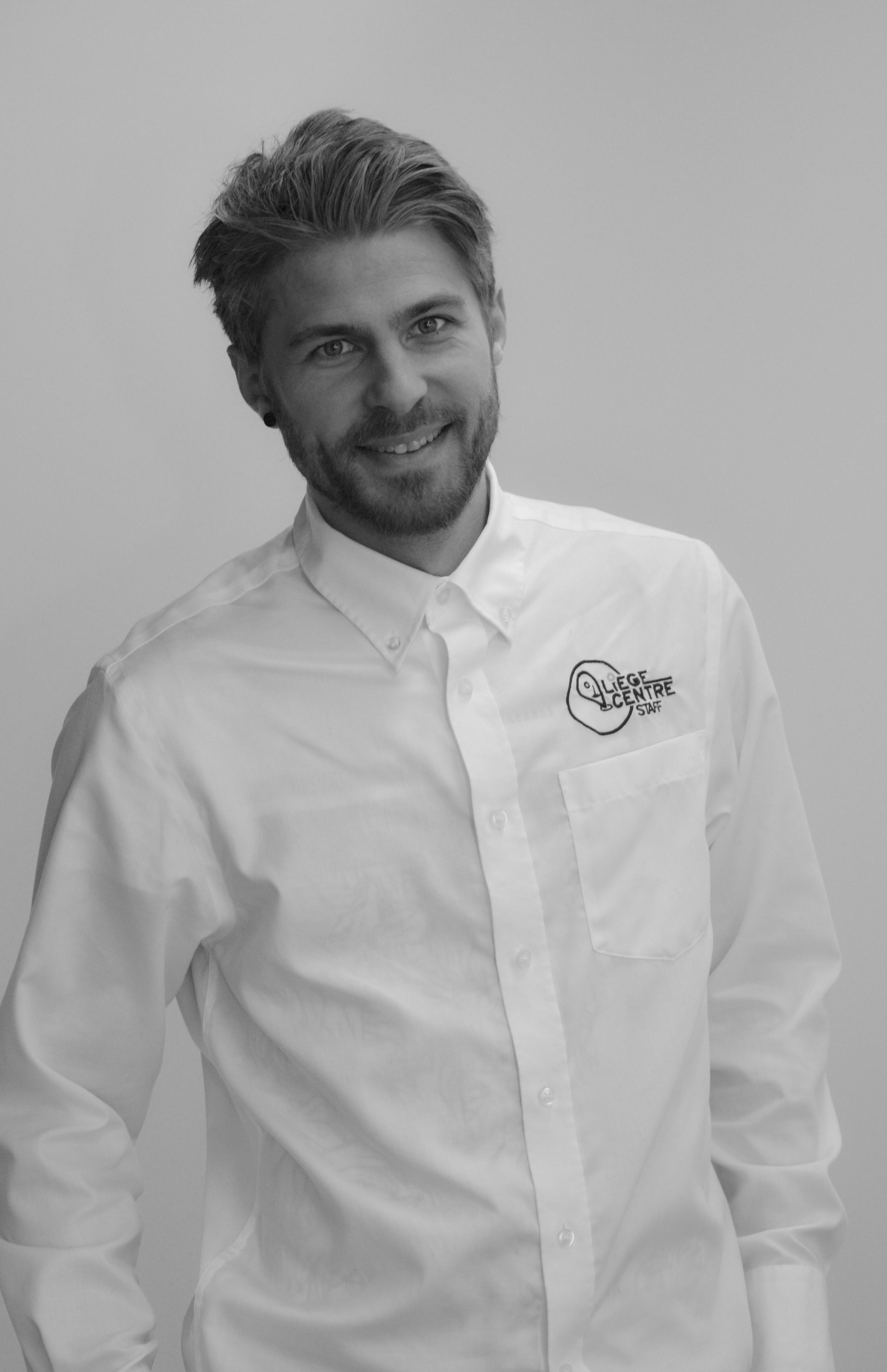 équipe administrative :Portrait de Vincent Billen responsable opérationnel de l'asbl Liège Centre